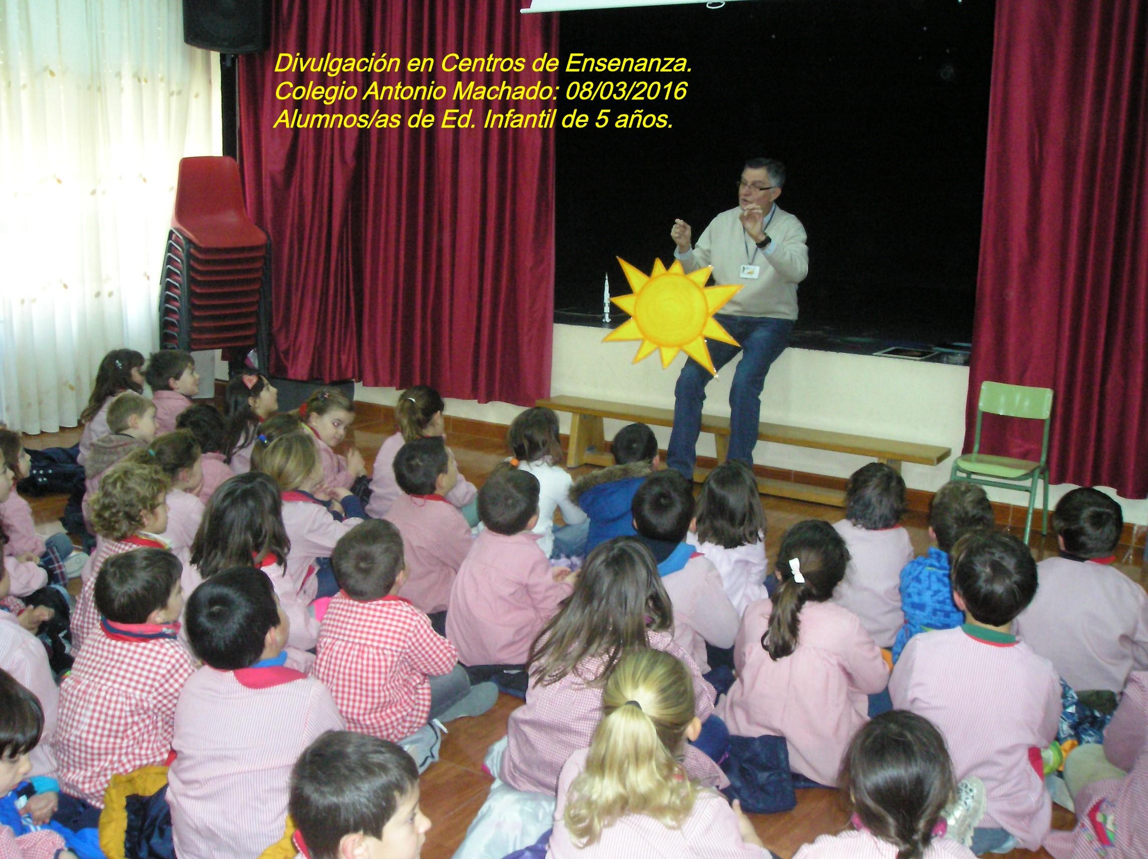 Colaboración con Centros de Enseñanza. Colegio Antonio Machado.