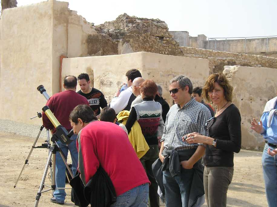 Observación Solar desde el Castillo de Elda: 04/04/2009