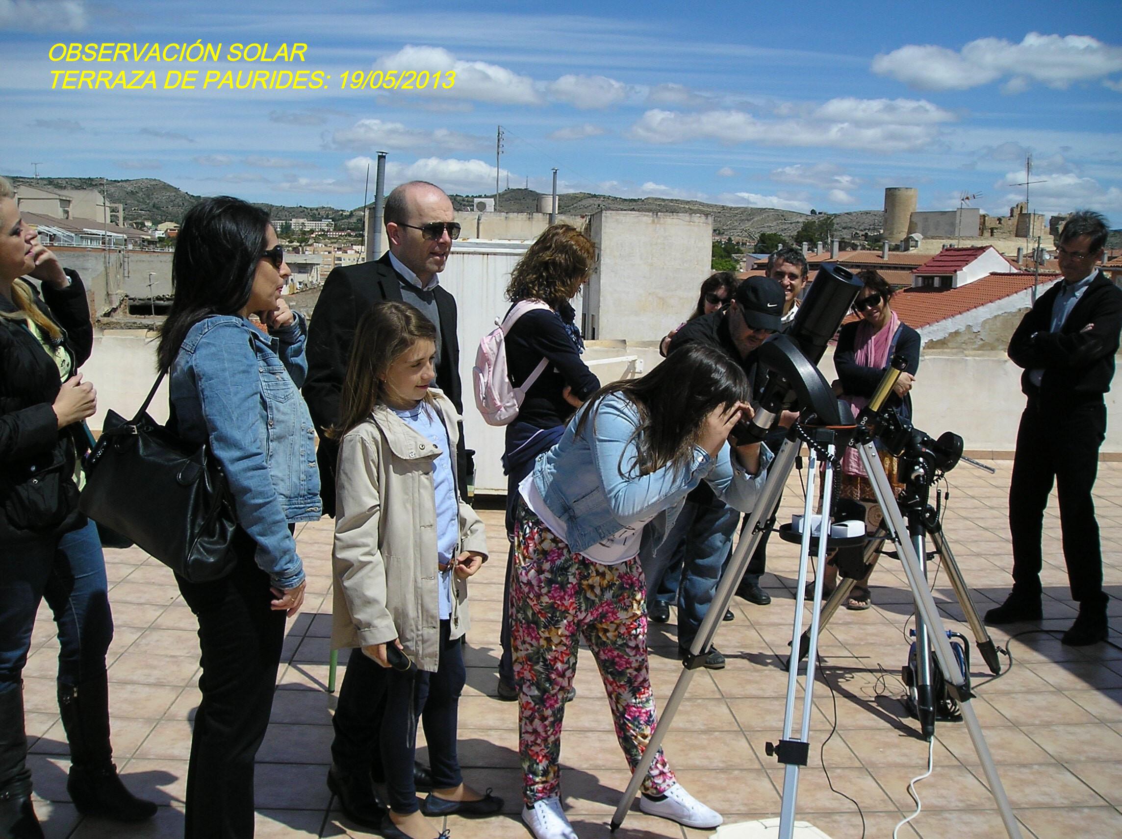 Observación Solar en la terraza de Paurides