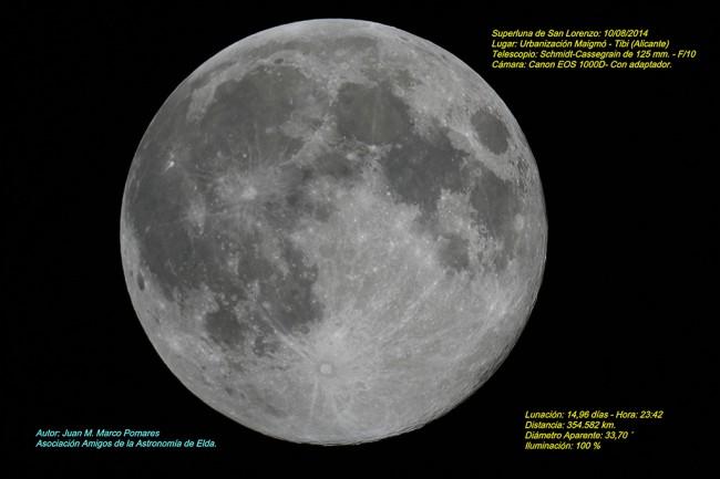 Superluna de San Lorenzo.