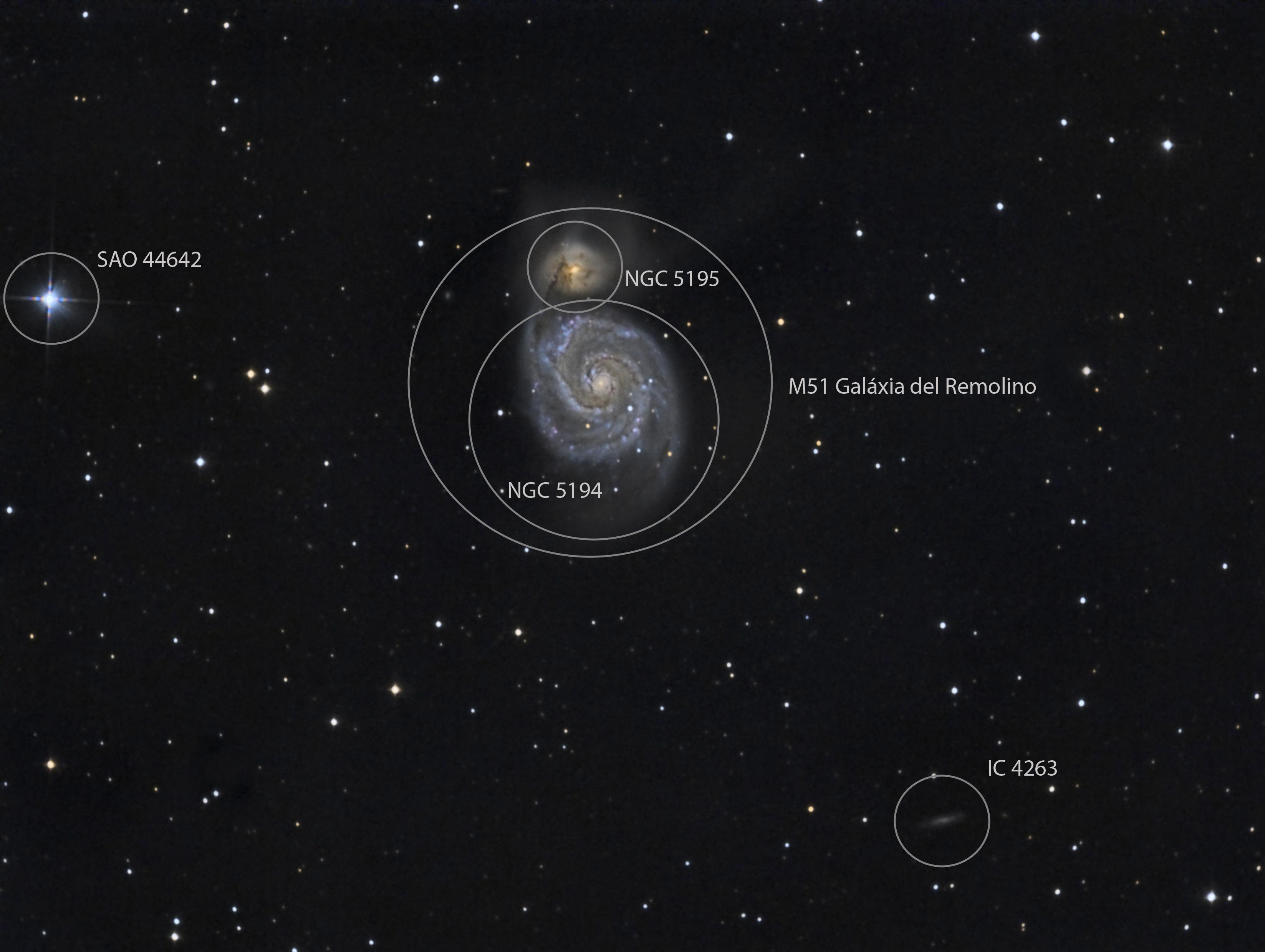 M51. Galaxia del remolino