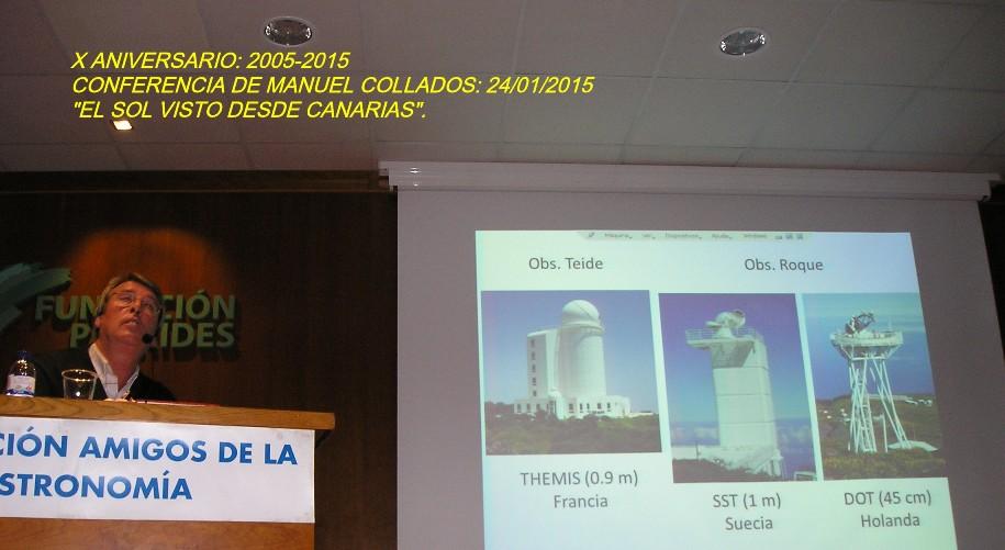 Conferencia del astrofísico Manuel Collados.