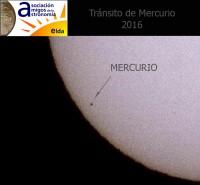 Los Amigos de la Astronomía de Elda, logran captar imágenes del tránsito del planeta Mercurio por delante del Sol.